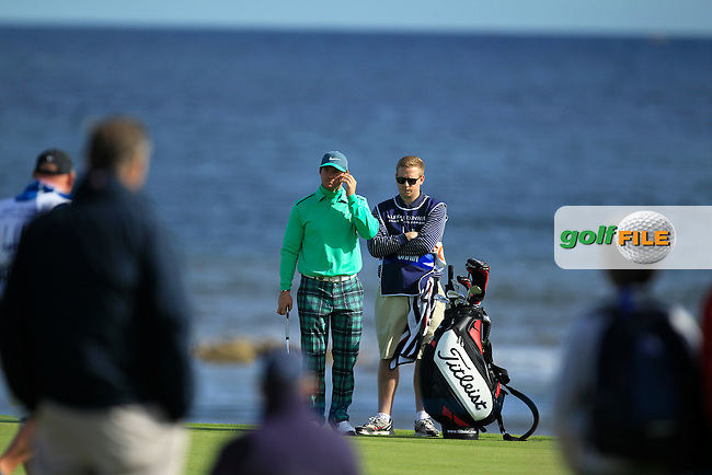 Max Orrin  during Round 1of the Alfred Dunhill Links Championship at Kingsbarns Golf Club on Thursday 26th September 2013.<br /> Picture:  Thos Caffrey / www.golffile.ie