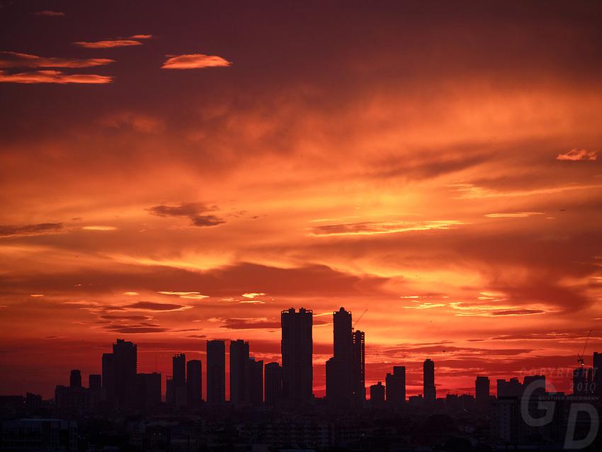 Manila, Philippines Dramatic sunset and sky over Manila, Philippines
