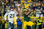 Green Bay Packers against the Seattle Seahawks during a postseason Divisional Round playoff game at Lambeau Field in Green Bay on Sunday, January 12, 2020.
