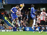 Chelsea's Branislav Ivanovic scoring his sides opening goal<br /> <br /> Barclays Premier League- Chelsea vs Sunderland - Stamford Bridge - England - 19th December 2015 - Picture David Klein/Sportimage