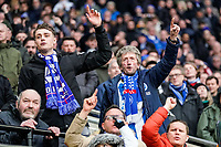 7th March 2020; Molineux Stadium, Wolverhampton, West Midlands, England; English Premier League, Wolverhampton Wanderers versus Brighton and Hove Albion; Brighton & Hove Albion fans cheer their team on