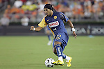 25 July 2007:  Alvin Mendoza (22) of Club America.  Club America was defeated by the Houston Dynamo 0-1 at Robertson Stadium in Houston, Texas, in a first round SuperLiga 2007 match.