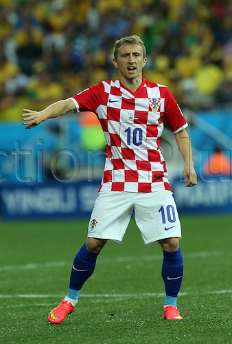 12.06.2014. Sao Paulo, Brazil. World Cup finals 2014. Opening game, Brazil versus Croatia. Modric