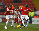 Sam Ricketts and Marc Antoine Fortune of Coventry City challenge Stefan Scougill of Sheffield Utd  English League One - Sheffield Utd vs Coventry City - Bramall Lane Stadium - Sheffield - England - 13th December 2015 - Pic Simon Bellis/Sportimage-