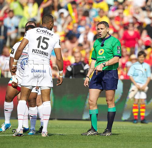 19.04.2014. Barcelona, Spain. Estadio Olímpico Lluís. Top14 French rugby. Perpignan versus Toulon.  C Berdos