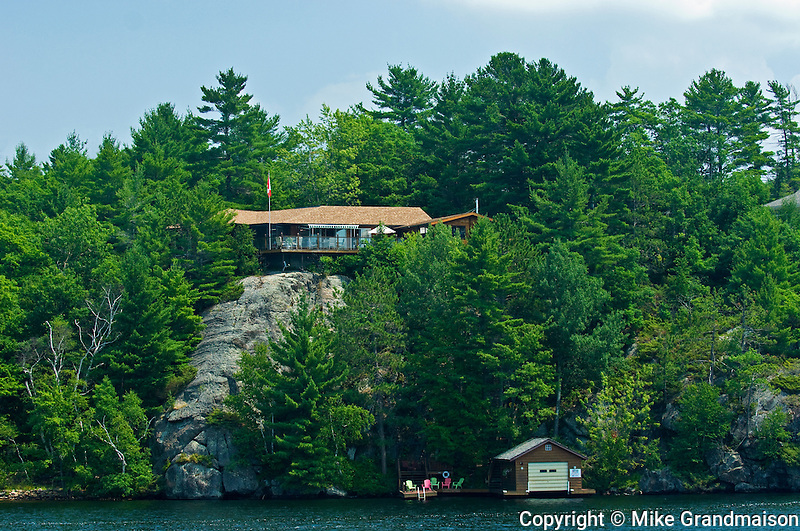 Cottage and boathouse<br /> Muskoka <br /> Ontario<br /> Canada