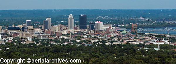 aerial photograph skyline downtown Louisville, Kentucky