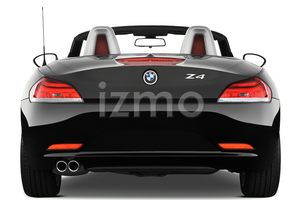 Straight rear view of a 2009 BMW Z4 3.0i