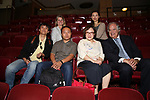 Wen Chen, Bonnie Comley, Zhiyong Liu, Yanping Ma, Zhenzhu Ma and Stewart F. Lane during the Central Academy of Drama: Professors tour The Palace Theatre on September 25, 2017 at the The Palace Theatre in New York City.