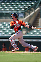 Baltimore Orioles Stuart Levy (66) during an instructional league game against the Minnesota Twins on September 22, 2015 at Ed Smith Stadium in Sarasota, Florida.  (Mike Janes/Four Seam Images)