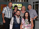 Karen Devitt celebrating her 30th birthday and recent engagement with Paul Heatherington and their parents Ann and John Devitt and Chris and Mary Heatherington in Barocco in the Westcourt hotel. Photo:Colin Bell/pressphotos.ie