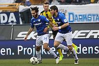 Hamit Altintop (SV Darmstadt 98) und Peter Niemeyer (SV Darmstadt 98) gegen Marco Reus (Borussia Dortmund)- 11.02.2017: SV Darmstadt 98 vs. Borussia Dortmund, Johnny Heimes Stadion am Boellenfalltor