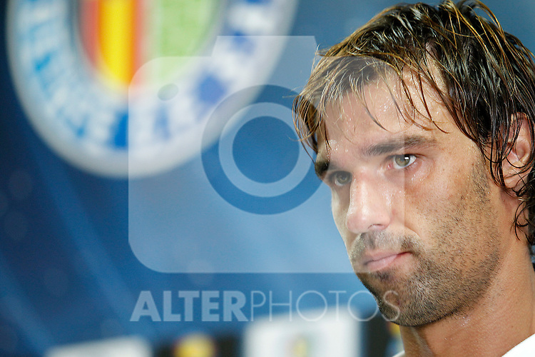 Getafe's new player Juan Valera during his official presentation. August 16, 2011. (ALTERPHOTOS/Acero)