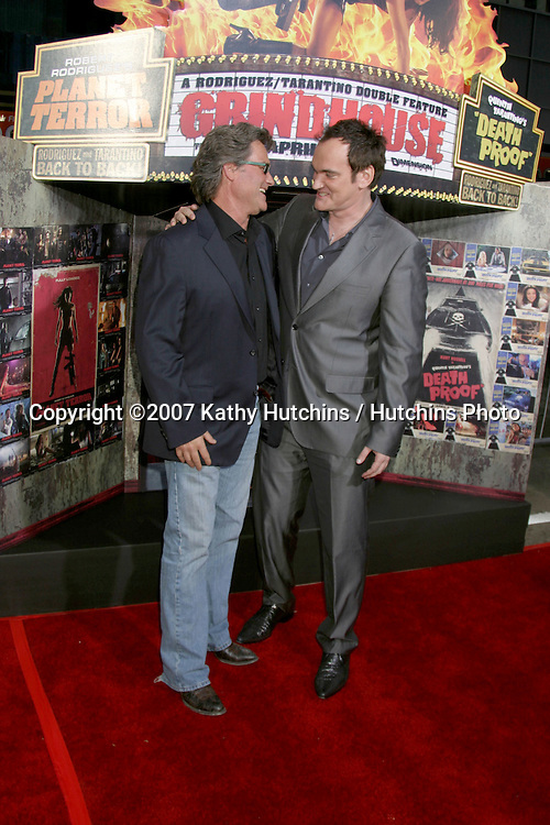 "Kurt Russell & Quentin Tarantino.""Grindhouse"" Los Angeles Premiere.Orpheum  Theater.Los Angeles, CA.March 25, 2007.©2007 Kathy Hutchins / Hutchins Photo."