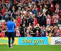 Lincoln City fans applaud Lincoln City manager Danny Cowley at the final whistle <br /> <br /> Photographer Chris Vaughan/CameraSport<br /> <br /> The EFL Sky Bet League Two - Lincoln City v Morecambe - Saturday August 12th 2017 - Sincil Bank - Lincoln<br /> <br /> World Copyright &copy; 2017 CameraSport. All rights reserved. 43 Linden Ave. Countesthorpe. Leicester. England. LE8 5PG - Tel: +44 (0) 116 277 4147 - admin@camerasport.com - www.camerasport.com
