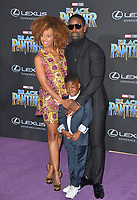 "Sterling K. Brown, Ryan Michelle Bathe & Son at the world premiere for ""Black Panther"" at the Dolby Theatre, Hollywood, USA 29 Jan. 2018<br /> Picture: Paul Smith/Featureflash/SilverHub 0208 004 5359 sales@silverhubmedia.com"