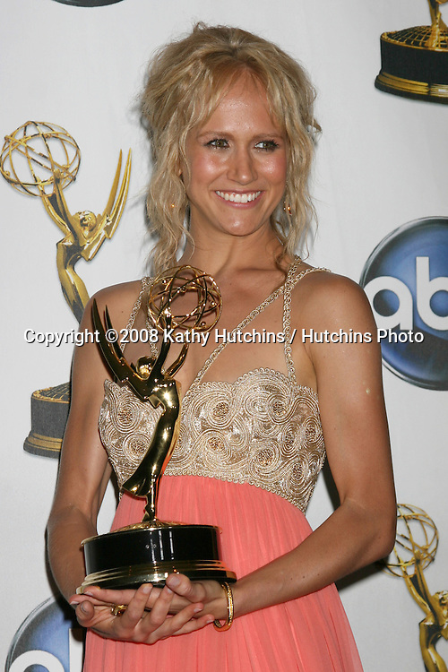 Jennifer Landon in the press room after Winning an award for Outstanding Younger Actress at the  the Daytime Emmys 2008 at the Kodak Theater in Hollywood, CA on.June 20, 2008.©2008 Kathy Hutchins / Hutchins Photo .
