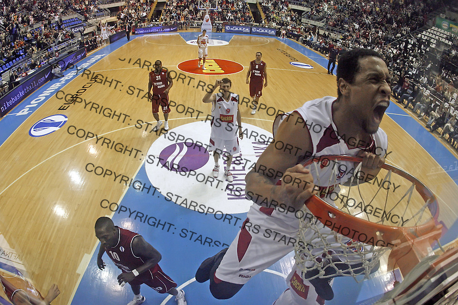 Remote Lawrence Roberts Sport Kosarka Basketball Eurocup Uleb Crvena Zvezda Red Star Brose Bamberg Baskets Nemacka Germany 2.12.2008. (credit image © photo: Pedja Milosavljevic / Srdjan Stevanovic / STARSPORT)