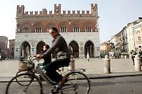 Veduta del Palazzo Comunale (il Gotico) di Piacenza.<br /> View of the Palazzo Comunale (Il Gotico) in Piacenza.<br /> UPDATE IMAGES PRESS/Riccardo De Luca