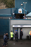 Greenock Morton 2 Stranraer 0, 21/02/2015. Cappielow Park, Greenock. Supporters making their way towards an entrance to the stadium before Greenock Morton take on Stranraer in a Scottish League One match at Cappielow Park, Greenock. The match was between the top two teams in Scotland's third tier, with Morton winning by two goals to nil. The attendance was 1,921, above average for Morton's games during the 2014-15 season so far. Photo by Colin McPherson.