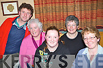 2365-2367.Enjoying the night out at the pub quiz held in Kate Browne's Pub on Friday night were l/r T.J. McCarthy, Mairead Mackessy, Noreen O'Flaherty, Shunie O'Flaherty and Josephine O'Riordan, all from Ardfert,.Shunie and Mackessy correct   Copyright Kerry's Eye 2008