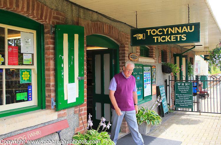 Ticket Office entrance, Welsh Highland Heritage Railway, Porthmadog, Gwynedd, north west Wales, UK