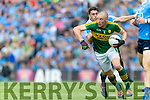 Kieran Donaghy Kerry in action against Bernard Brogan Dublin in the All Ireland Senior Football Semi Final at Croke Park on Sunday.