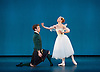The Royal Danish Ballet soloists &amp; principals <br /> Bournoville Celebration <br /> at The Peacock Theatre, London, Great Britain <br /> press photocall<br /> 9th January 2015 <br /> <br /> La Sylphide <br /> <br /> Gudrun Bojesen as the Sylph <br /> Ulrik Birkkjaer as James<br /> <br /> <br /> <br /> <br /> Photograph by Elliott Franks <br /> Image licensed to Elliott Franks Photography Services