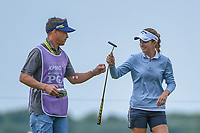 Luna Sobron Galmes (ESP) fist bumps her caddie after siking her putt on 2 during the round 2 of the KPMG Women's PGA Championship, Hazeltine National, Chaska, Minnesota, USA. 6/21/2019.<br /> Picture: Golffile | Ken Murray<br /> <br /> <br /> All photo usage must carry mandatory copyright credit (© Golffile | Ken Murray)