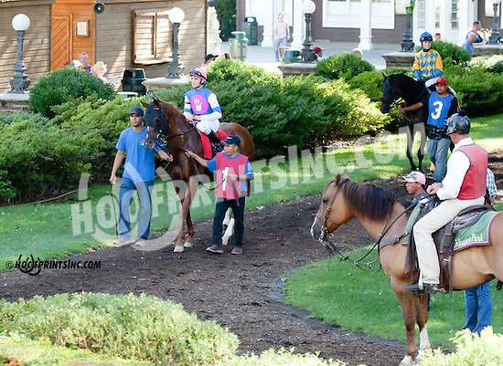 Cop a Tude before The Damitrius Stakes at Delaware Park on 9/4/13