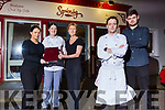 Staff of Sp&uacute;n&oacute;g Restaurant in Kilflynn on Sunday.<br /> Front l to r: Stephen and Aidan Prenderville<br /> Back l to r: Laura Switzer, Laura McGaley and Katie Rowan.