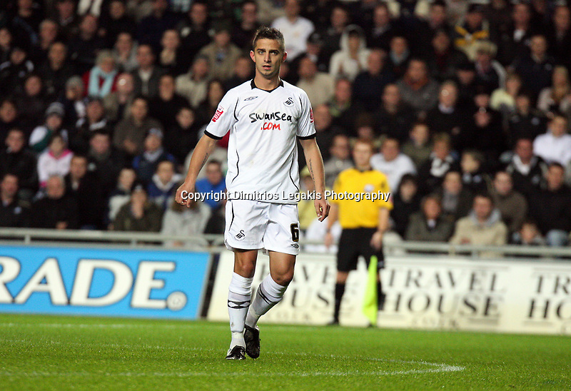 Pictured: Ferrie Bodde of Swansea City <br /> Re: Coca Cola Championship, Swansea City Football Club v Queens Park Rangers at the Liberty Stadium, Swansea, south Wales 21st October 2008.