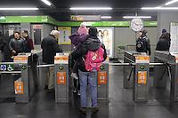 - Milan subway station Famagosta....- Milano, stazione Famagosta della Metropolitana