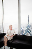 Philadelphia, PA, February 27, 2015 - A portrait of D'Arcy Rudnay, Executive Vice President and Chief Communications Officer, Comcast Corporation, in the Comcast Center in Philadelphia.