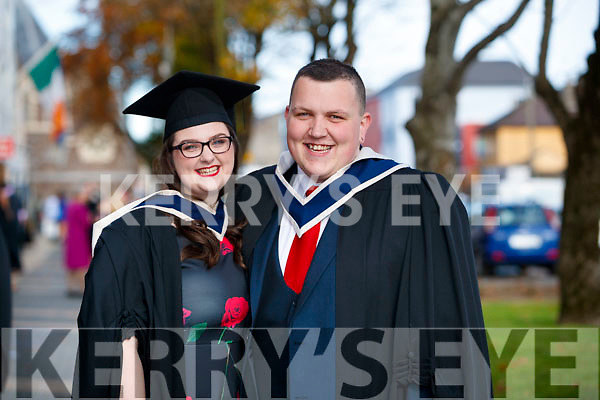 Ciara Murphy (Waterford) and Ivan Hurley (Killarney), who both graduated in Radio, TV and New Media Broadcasting, from IT Tralee, at the Brandon Conference Centre, Tralee.
