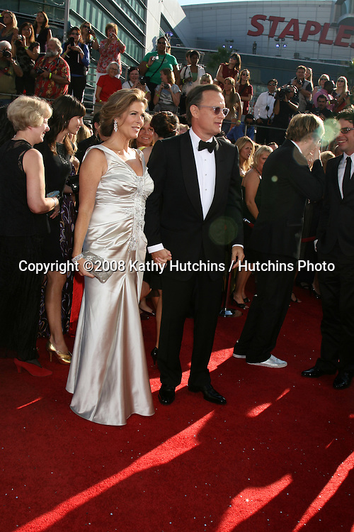 Rita Wilson & Tom Hanks.arriving at the Primetime Emmys at the Nokia Theater in Los Angeles, CA on.September 21, 2008.©2008 Kathy Hutchins / Hutchins Photo....