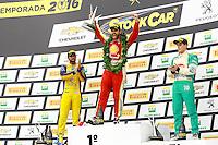 GOIÂNIA,GO.06.11.2016 - STOCK CAR-GO - Átila Abreu, Tiago Camilo e Diego Nunes comemora pódio na etapa Goiânia no autódromo internacional Ayrton Senna, na cidade de Goiânia neste domingo (06) (Foto: Marcos Souza/Brazil Photo Press)