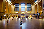 New York, New York<br /> March 20, 2020<br /> 4:46PM<br /> <br /> Manhattan under the coronavirus pandemic. <br /> <br /> Friday 5PM rush-hour at Grand Central Terminal, a commuter rail terminal located at 42nd Street and Park Avenue in Midtown Manhattan, New York City. <br /> <br /> Normally this space would be filled with people.