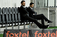 30th July 2020; Bankwest Stadium, Parramatta, New South Wales, Australia; A League Football, Adelaide United versus Perth Glory; Coach Tony Popovic of Perth Glory relaxes on th ebench before the game