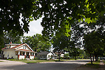 Suburban homes in summertime in Midland, Michigan, MI, USA