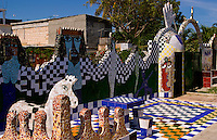 Havana Cuba home of the world famous ceramic artist Jose Fuster with his wild color tiles in Jaimanitas section of Habana