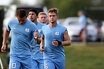 BROWNS SUMMIT, NC - SEPTEMBER 16: North Carolina's Cam Lindley (6). The University of North Carolina Tar Heels hosted the Duke University Blue Devils on September 16, 2017 at Macpherson Stadium in Browns Summit, NC in a Division I college soccer game. UNC won the game 2-1.