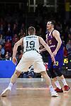 Turkish Airlines Euroleague 2018/2019. <br /> Regular Season-Round 18.<br /> FC Barcelona Lassa vs Panathinaikos Opap Athens: 79-68.<br /> Lukas Lekavicius vs Thomas Heurtel.