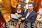 David Monson of Monson Jewellery, pictured with Ciara Nolan from Hilsers Jewellers Tralee, secured ?30k investment on Sunday's Dragon's Den on RTE 1. .