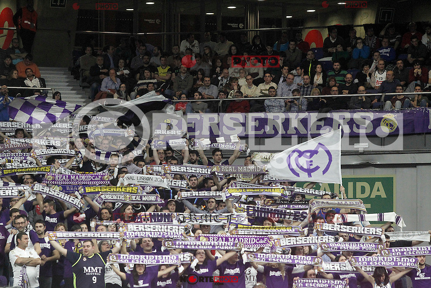 Real Madrid's supporters during Euroleague match.January 22,2015. (ALTERPHOTOS/Acero) /NortePhoto<br /> NortePhoto.com