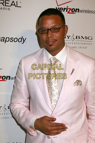 TERRENCE HOWARD.Clive Davis 2007 Pre-Grammy Awards Party at the Beverly Hilton Hotel, Beverly Hills, USA..February 10th, 2007.half length glasses pink suit jacket .CAP/ADM/BP.©Byron Purvis/AdMedia/Capital Pictures