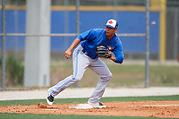 Toronto Blue Jays Yeltsin Gudino (51) during a Minor League Spring Training Intrasquad game on March 31, 2018 at Englebert Complex in Dunedin, Florida.  (Mike Janes/Four Seam Images)