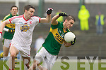 Stephen O'Brien, Kerry in action against   Tyrone in the fourth round of the National Football league at Fitzgerald Stadium, Killarney on Sunday.