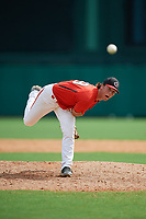 Canadian Junior National Team pitcher Ryan Scott (29) delivers a pitch during a Florida Instructional League game against the Atlanta Braves on October 9, 2018 at the ESPN Wide World of Sports Complex in Orlando, Florida.  (Mike Janes/Four Seam Images)