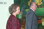 08.10.2012. Spanish Royals, Juan Carlos and Sofia, preside the ceremony commemorating the 20th anniversary of the Thyssen-Bornemisza Museum located in the Villahermosa Palace, in Madrid, Spain. In the image King Juan Carlos of Spain and Queen Sofia of Spain. (Alterphotos/Marta Gonzalez)